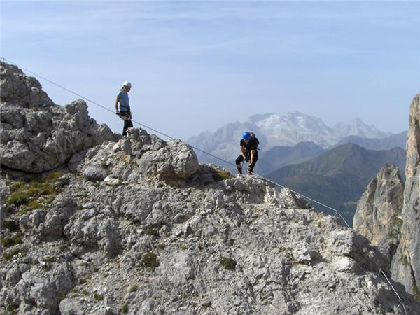 Via Ferrata walking vacation in the Dolomites, Italy