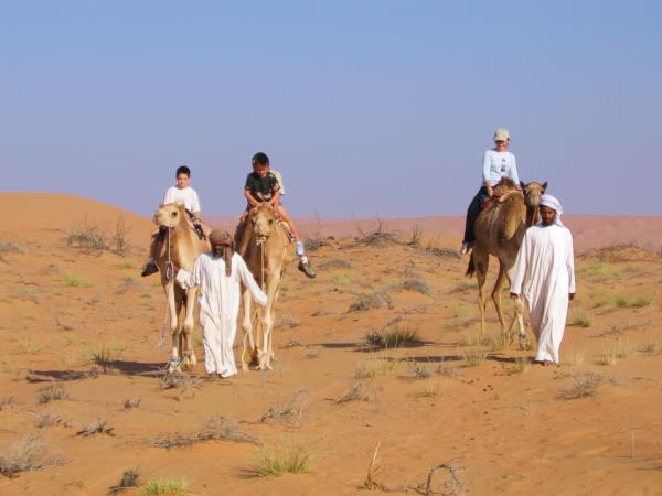 Oman family vacation, dolphin and dunes