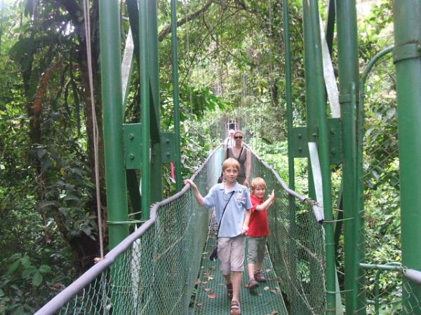 Costa Rica family vacation, rainforests and volcanoes