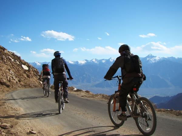 Mountain biking in Northern India