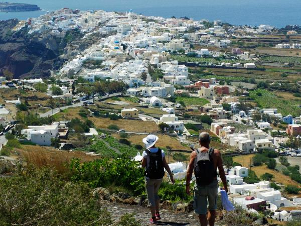 Self guided hiking vacation in Santorini, Greece