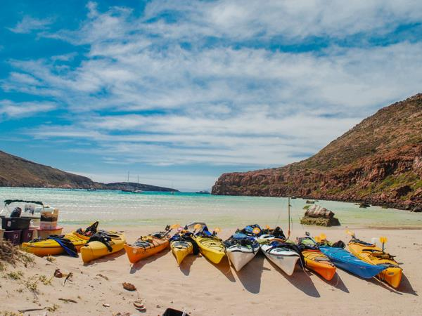 Mexico sea kayaking and camping vacation, Baja California