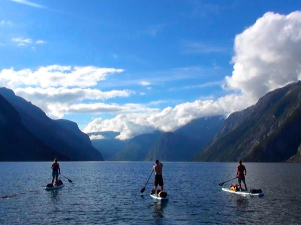 Stand up paddleboard vacation in Norway