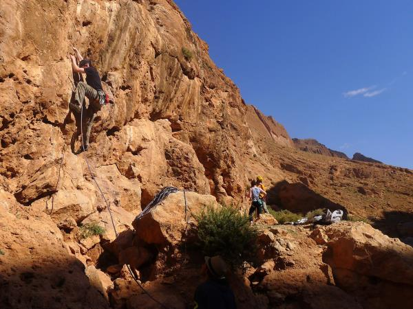 Rock climbing vacation in Morocco
