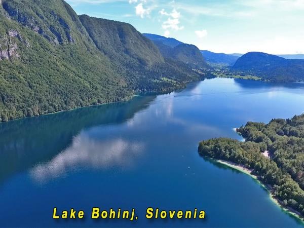 Slovenia lake swimming vacation