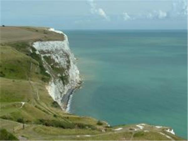 White cliffs of Dover walking vacation in Kent, England