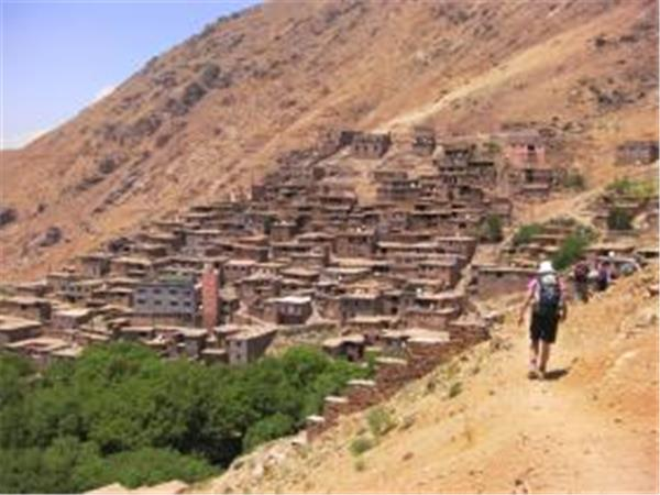 Morocco trekking vacation, Mount Toubkal in summer