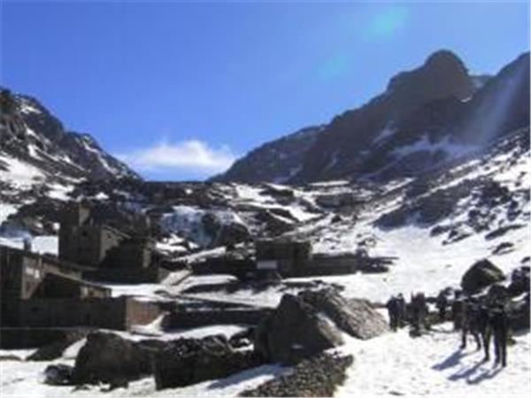 Morocco trekking vacation, Mount Toubkal in winter