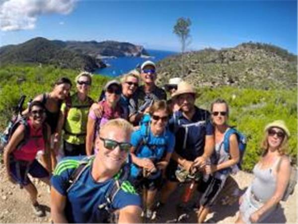 Ibiza hiking vacation, point to point for groups
