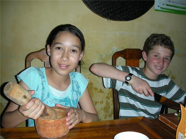 Family vacation in Vietnam, Chopsticks & Coconuts