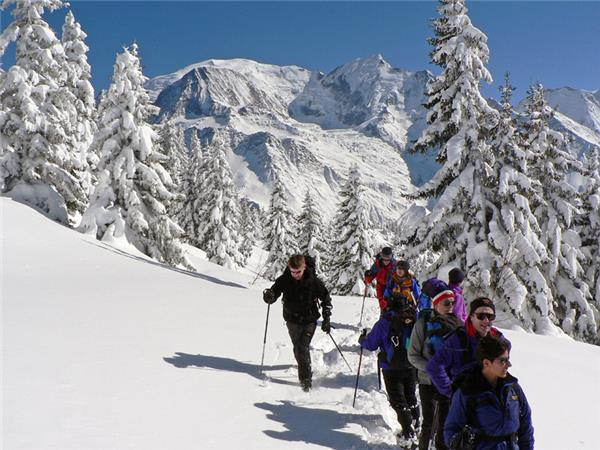 Snowshoeing vacation in Chamonix