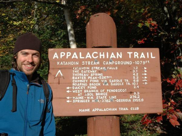 Appalachian Trail walking vacation in America, camping