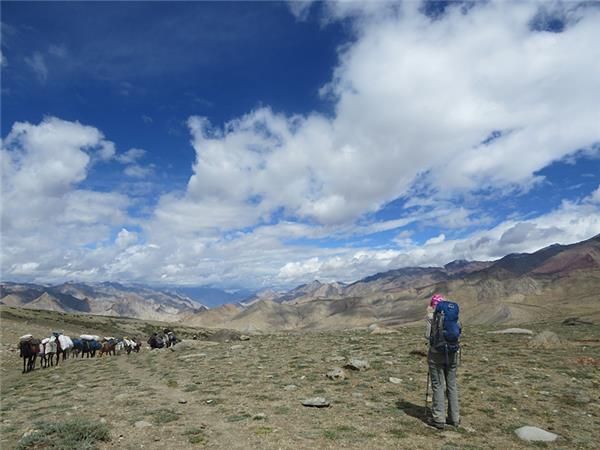 Hiking vacation in Ladakh, India