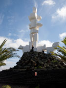 Fecundidad statue by Manrique, Lanzarote. Photo by Nick Haslam