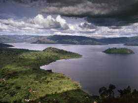 View of Virunga Mountains and Lakes, Steppes Discovery