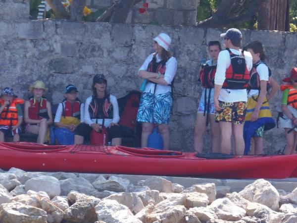 Family sea kayaking vacation in Croatia
