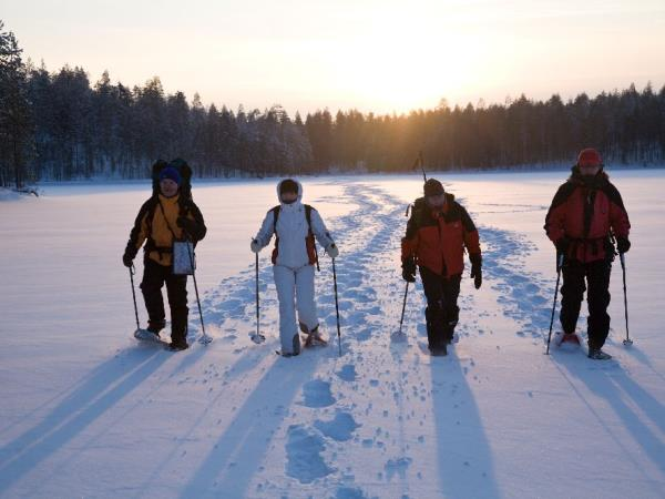 Snowshoeing vacation in Finland