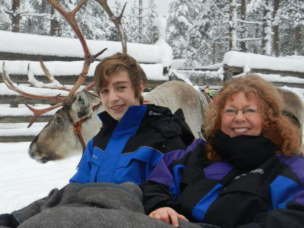 Family winter vacation to Lapland, Finland