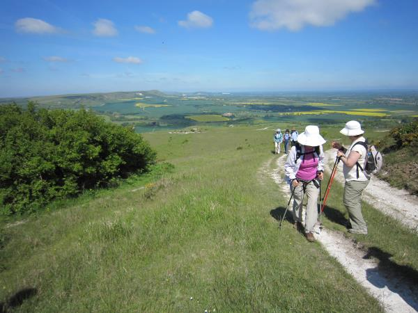 Sussex downs and coast short break walking vacation