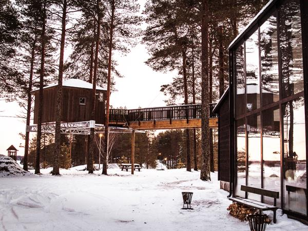 Sweden treehouse vacation, Grano Beckasin