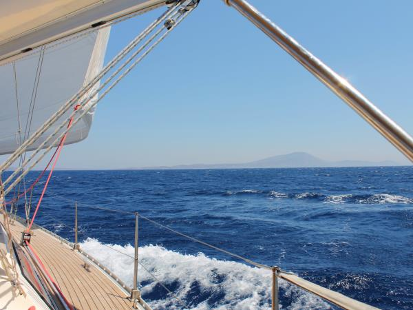 Sailing vacation in the Aegean Sea