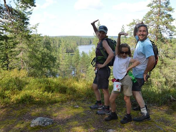 Family summer vacation in Finland