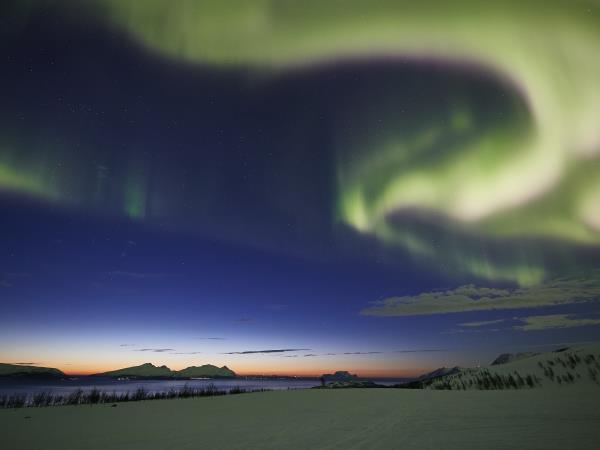 Northern Lights vacation in Norway, Tromsø and Lyngen Alps