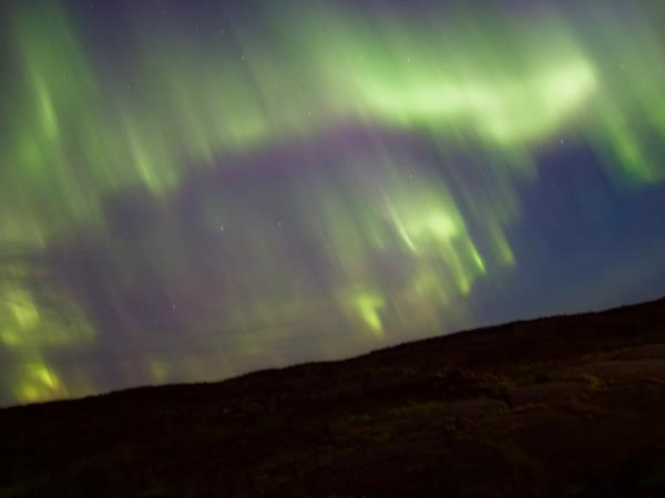 Iceland northern lights and snowshoeing vacation
