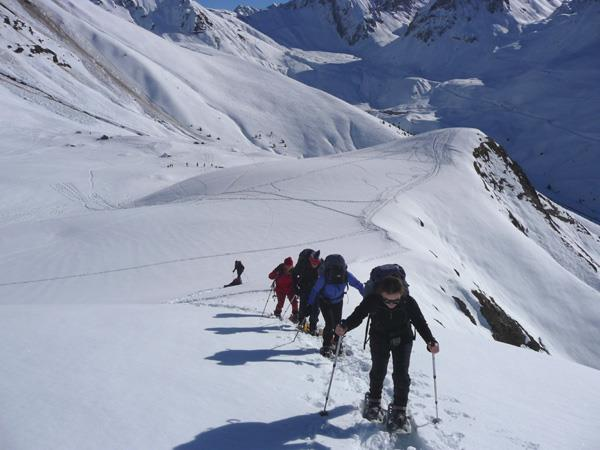 Snowshoeing vacation in the French Pyrenees