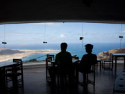 Couple at Mirador del Rio, Lanzarote. Photo by Nick Haslam