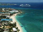 Aerial view of Seven Mile beach, Cayman Islands. Photo by Cayman Islands Tourist Board