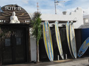 Surf shop at Caleta de Famara, Lanzarote. Photo by Nick Haslam