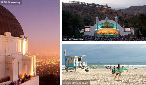 Griffith Observatory, Hollywood Bowl and Venice Beach