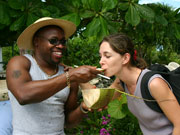 Coconut milk, Cayman Islands. Photo by Cayman Islands Tourist Board