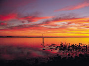 Sunset at Coorong, South Australia. Photo by South Australia Tourist Board