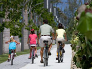 Cycling at Camana Bay, Cayman Islands. Photo by Cayman Islands Tourist Board