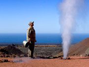Geyser at Timanfaya National Park. Photo by Lanzarote Tourist Board