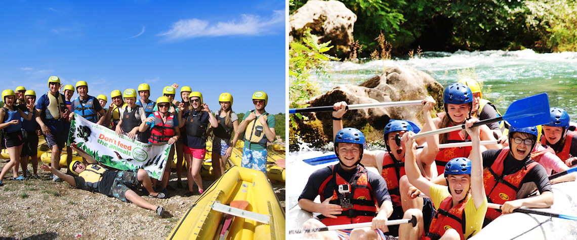 Mini rafting and white water rafting