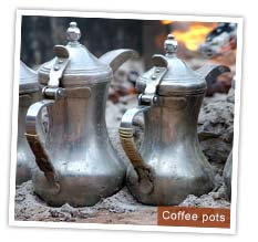 Bedouin coffee pots, Jordan. Photo by Huw J Williams