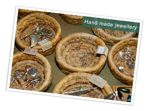 Hand made jewellery at the Dana workshop, Jordan. Photo by Huw J Williams
