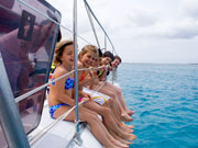Kids on a boat, Lanzarote. Photo by Lanzarote Tourist Board