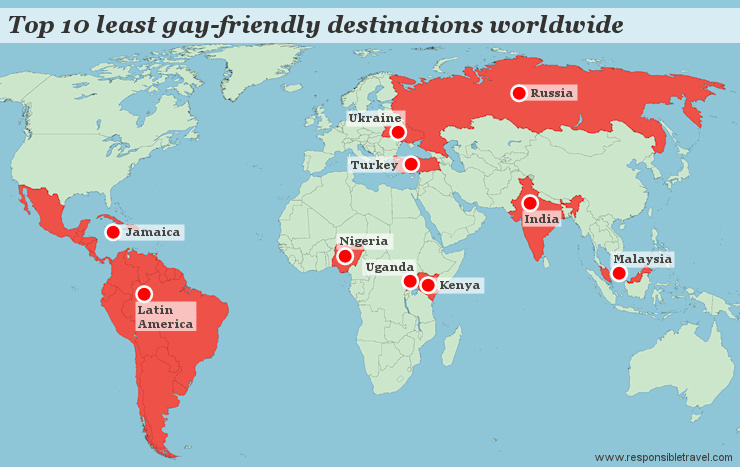 Least gay-friendly countries