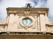 British clock in Mahon, Menorca. Photo by Nick Haslam