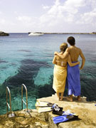 Couple after snorkle, Menorca. Photo by Menorca Tourist Board