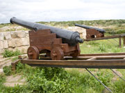 Cannons at Fort Marlborough. Photo by Nick Haslam