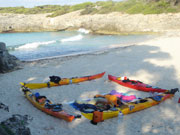 Kayak camping in Menorca. Photo from Audax Hotel