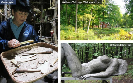 Ganandagan, Wellness: Té Lodge and Griffis Sculpture Park, New York State. Photos by Catherine Mack