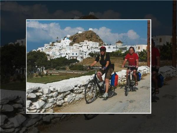 Greek Islands bicycling and sailing vacation