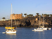 Sailboats in Marmoles, Lanzarote. Photo by Lanzarote Tourist Board