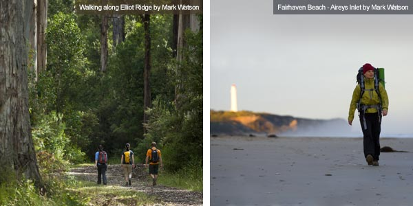 Elliot Ridge and Fairhaven beach, Victoria. Photos from Victoria Tourist Board